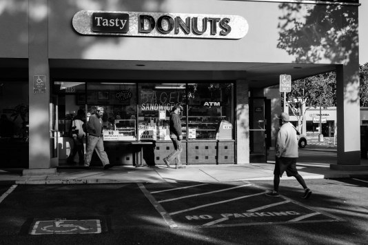 Tasty Donuts on Saratoga had a steady pace of customers coming and going. They were serving up a good product and they were also very nice people.