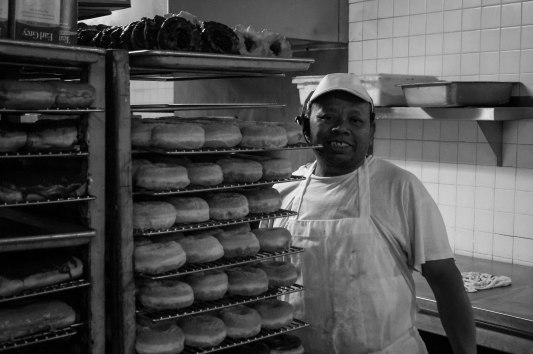 Here is the Donut Master behind the Donut Wheels delicious menu and he has been cooking donuts for 30 years plus. A true craftsman indeed.